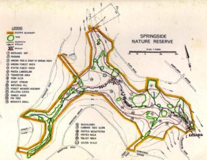 Map of Springside trails