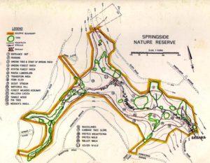 Map of Springside trails